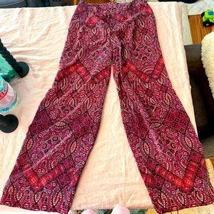 Cynthia Rowley 100% silk wide leg pants